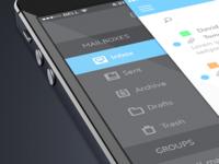 Zellomail - Mobile UI