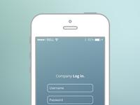 Mobile UI Login
