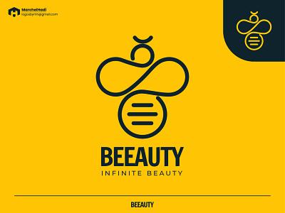 Beeauty Logo Design branding concept vector design logos logo brand illustration logo design branding brand identity