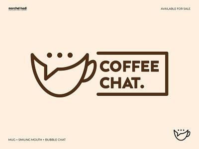 Coffee Chat Logo simple logo monogram logomark identity design brand design graphic design ui illustration coffeeshop coffeelogo logo logotype symbol brand design brand identity branding logo design