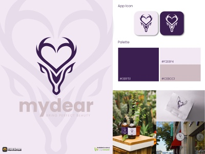 Love and Deer Logo [FOR SALE] beauty minimal branding graphic design mark icon logo design logo illustration symbol animal wild love deer visual identity brand identity branding design