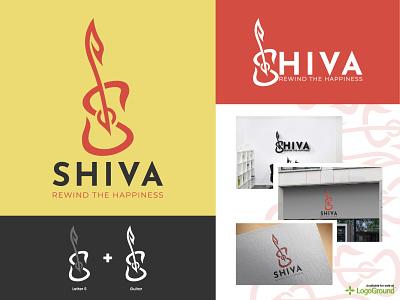 SHIVA - [Logo For Sale] unique logo modern logo icon visual identity logo identity ui design ui web design app design illustration guitar music logo design brand logotype symbol logo design logo branding brand identity