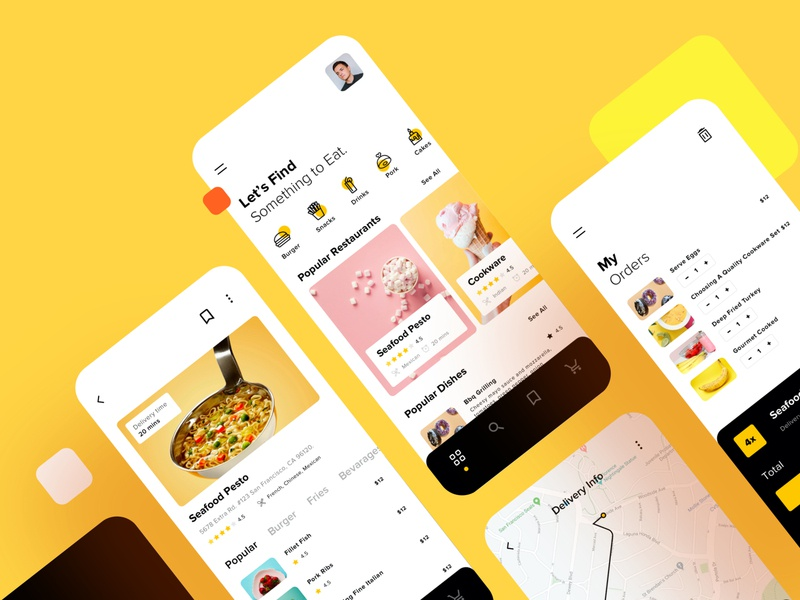 Food Delivery Mobile App UI