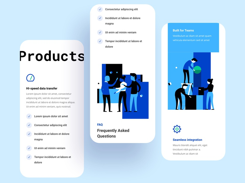 Startup Layout pack | Divi mobile ui divi page builder freelance project hire startup layout pack customization theme website minimal creative landing page web illustration colorful trend design