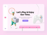 Colorful Minimal 3D Web Design ps5 play station color scheme palette colorful landing page mobile app website creative growth data game business web header dashboard minimal illustration skeuomorphic 3d