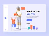 Colorful Minimal 3D Web Design color scheme palette colorful landing page mobile app website creative javascript finance growth data game business web header dashboard minimal illustration skeuomorphic 3d