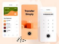 Mobile Banking App UI Exploration mastercard visa credit card cheque cash banking finance fintech graph transfer money bank abroad ui ux design app colorful branding illustration