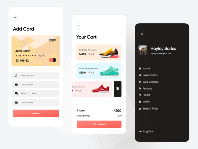 Shoe Shop Mobile App UI Design animation app design icon mobile mobile app ui jordan nike air max nike app running shoes ui ux ecommerce ios android hybrid web app color palette online shopping shopify shop