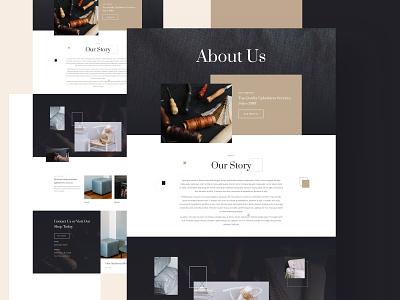 Upholsterer Layout pack | Divi creative design minimal ux ui website typography high contrast layout design graphic design upholstery furniture home decor decoration couch divan divi
