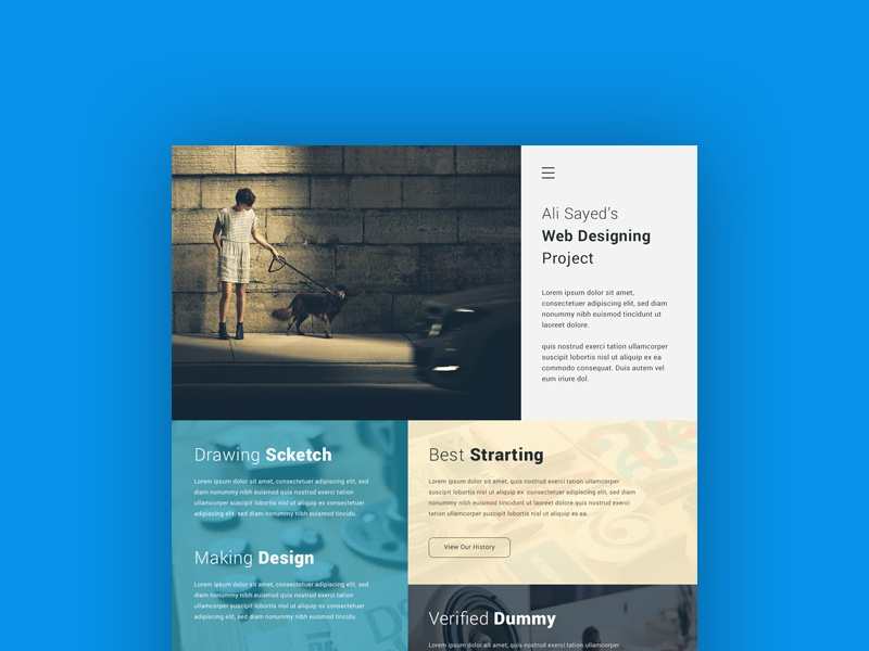 Freebie: Creative Minimal Business Agency Webpage Design creative agency business website web download design designer onepage landing freebie free