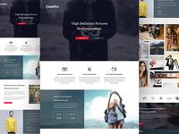 Camera Marketing Website Design Free PSD