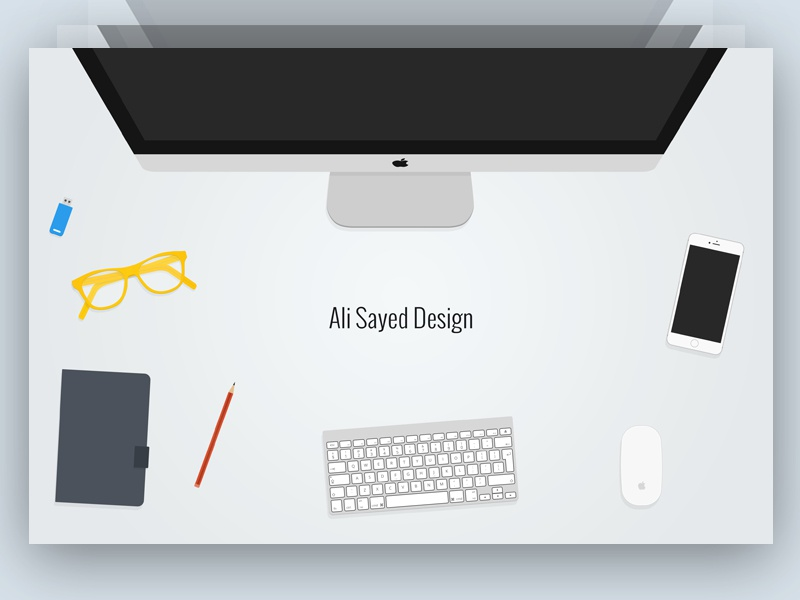 Header Image Design Free PSD free freebie glass download pendrive header hero iphone pencil imac