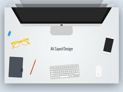 Header Image Design Free PSD free freebie glass download pendrive header hero iphone pencil imac