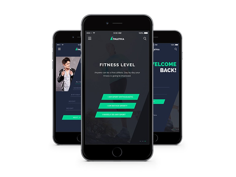 Athletica Sign Up - Free Athletics App screen login athletica athlet sign up sport mobile ios app user interface register ui