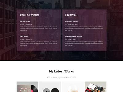 Personal Site | Free PSD psd download free freebie ui site onepage 2016 resume website portfolio personal