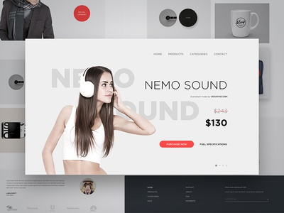 Experimental eCommerce Website Homepage