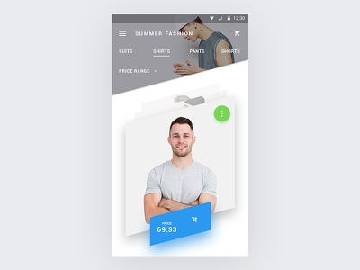 Material angle ecommerce product screen ui ux sm