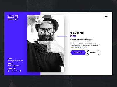 Personal VCard simple clean 2016 modern ux ui web site resume vcard personal portfolio