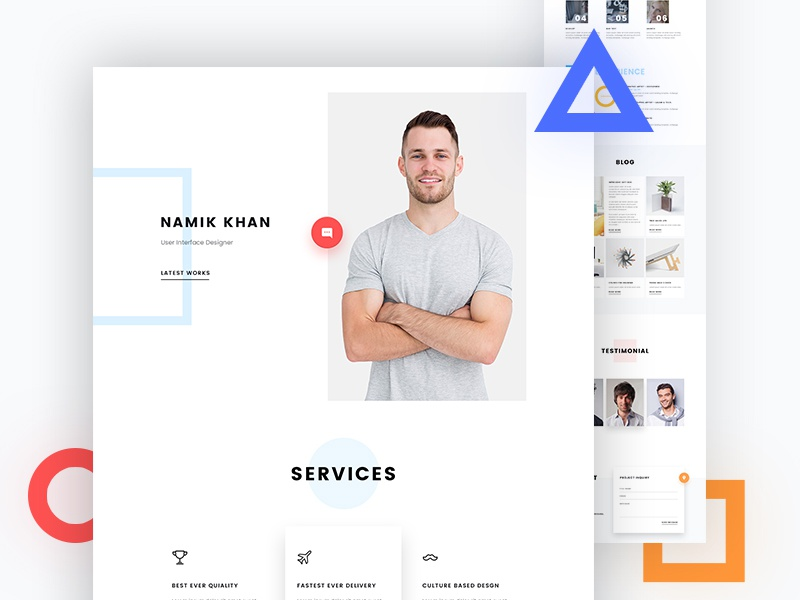 Dribbble web design preview