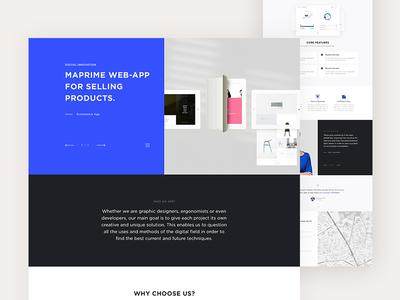 App Landing Page website visual design header ui template landing page inspiration featured cta colorful blue app