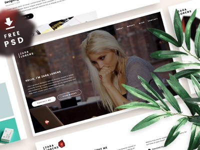 Freebie | Portfolio Site PSD web template personal portfolio website onepage site ui freebie free download psd