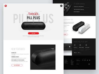 Beats Pill Plus Landing Page Concept product landing website landing page ui ux sound music app web beats apple