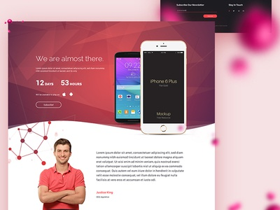 Responsive Coming Soon Template live website under construction ux ui website vibrant wave for sale template coming soon