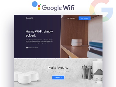 Google Wifi - Landing Page Concept