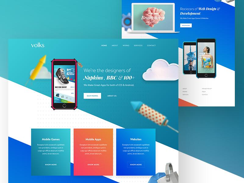 Digital product design agency website by ali sayed for Product design agency