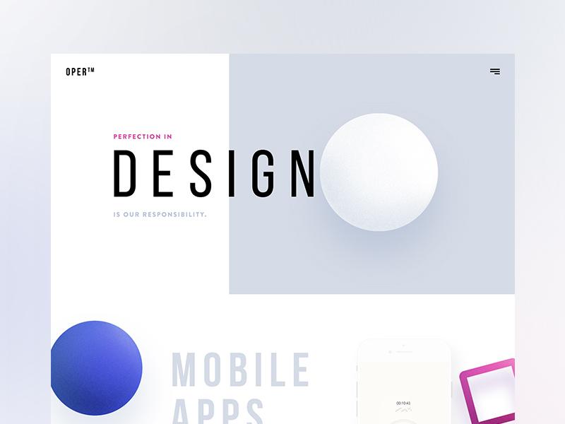 OPER - Design Agency Website | WIP