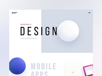 OPER - Design Agency Website | WIP website apps creative landing page trend 2017 minimal clean ux ui agency design wip