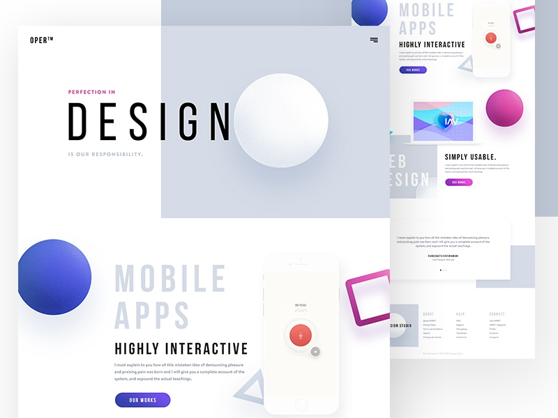 OPER - Design Agency Website