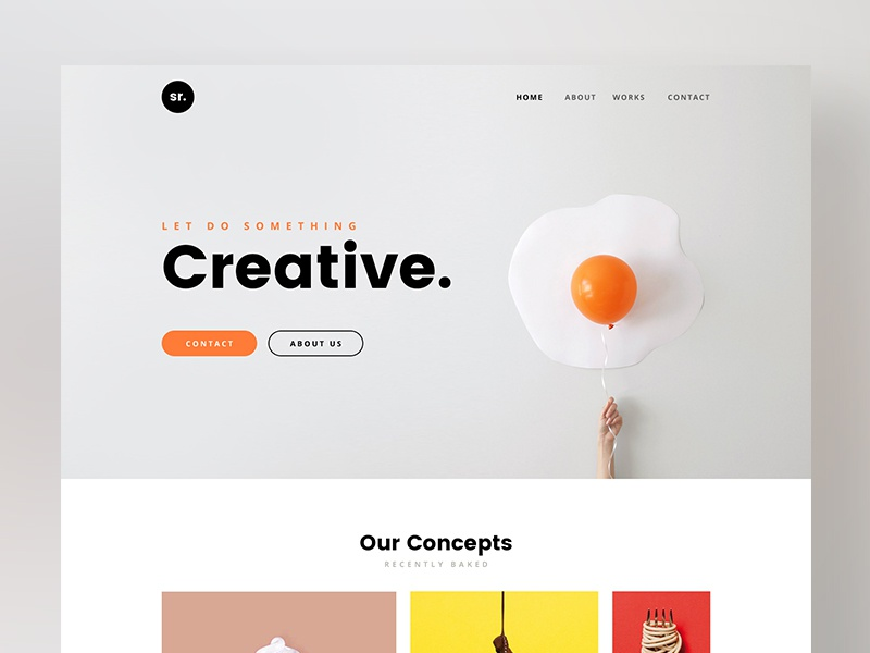 Creative Design Agency Website brand branding concept design product minimal design ux ui agency homepage creative web