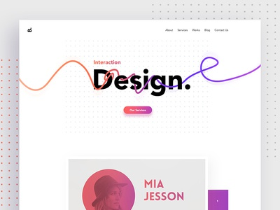 Creative Design Agency Website design creative minimal colorful gradient agency web landing page ux ui website product