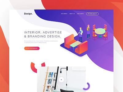 Creative Design - Website design creative minimal colorful gradient agency web landing page ux ui website 3d illustration