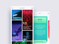 Minimal Mobile App UI  (Concept)