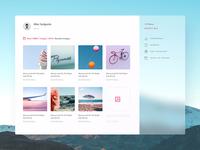 Photography Web Application UI - Concept