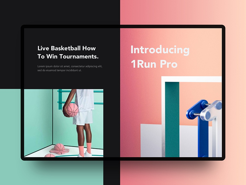 Play Basketball | Website Intro concept website 3d illustration creative abstract photography minimal apple google ux ui gradient
