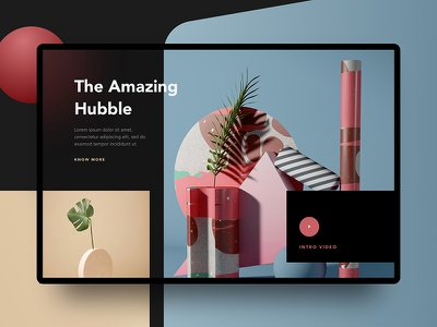 Conceptual Web UI - Creative Layout Exploration gradient ui ux google apple minimal photography abstract creative 3d illustration website