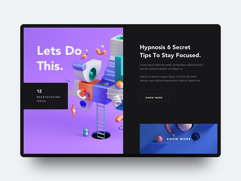 Conceptual Web UI - Creative Layout Exploration by Ali Sayed