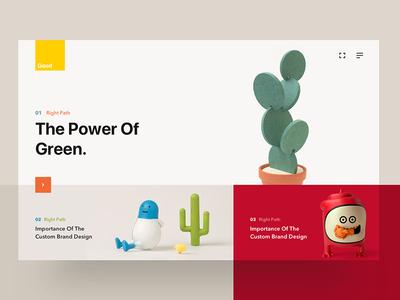 Conceptual Card Exploration layout fluent minimal kids concept grid custom modern ui ux toy website
