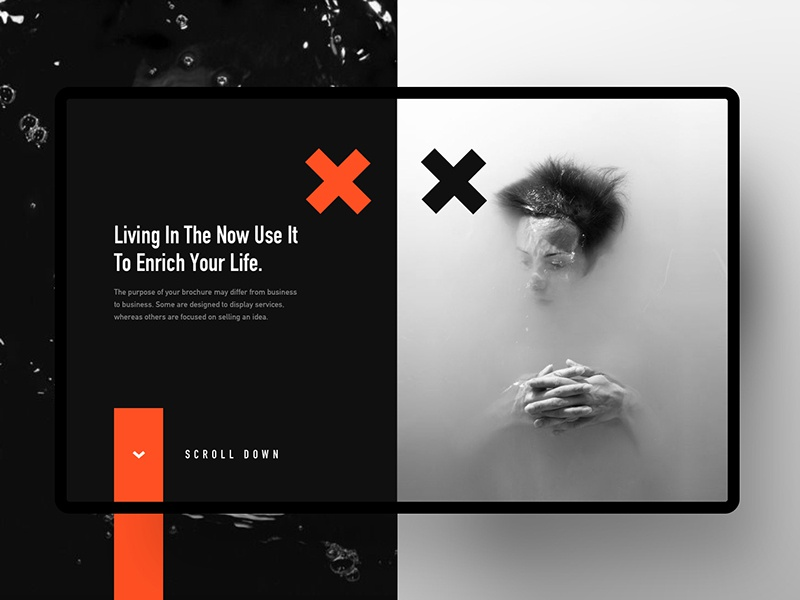 Conceptual Web Header blur gradient ui ux google apple minimal photography abstract creative 3d illustration website