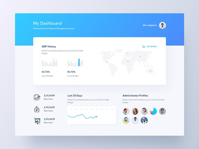 Dashboard UI   Colorful Concept