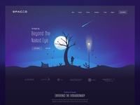 Space - Exploration Landing Page & Illustration