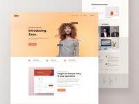 Zose Landing Page - Full preview