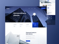 Hotel Finder Landing Page - Full preview