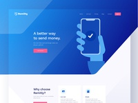 Remitly Landing Page - Full preview