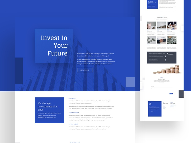 Investment Firm Home | Divi Layout growth money app transection banking fintech finance invest bank wordpress cms theme theme design web layout creative medical minimal website landing page