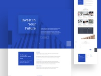 Investment Firm Home | Divi Layout