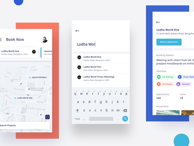 Homa properties - Brokerage Platform Design ui ux design fluid dashboard 2019 trend design creative app application minimal android ios hybrid illustration colorful